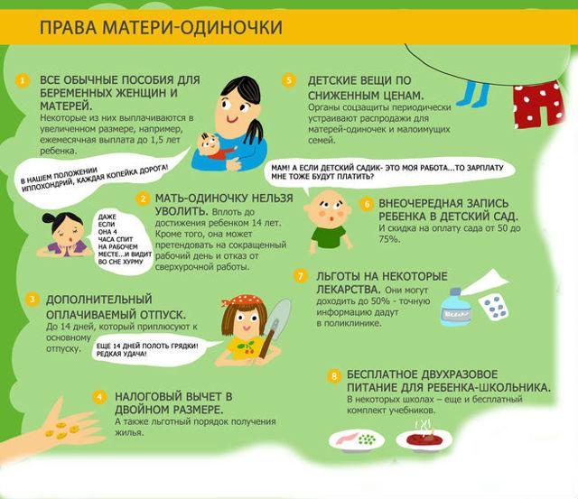 Статус матери-одиночки: кто считается по закону, как оформить и получить, необходимые документы, законы